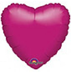 Metallic Fuchsia Heart Shaped Balloon