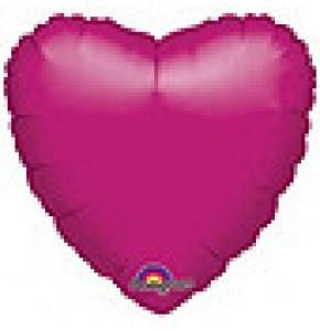 Metallic Fuchsia Heart Shaped Balloon