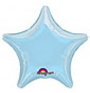 Pastel Blue Star Shaped Balloon