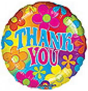 Retro Thank You Balloon Gift