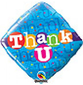 Thank U Colourful Dots Balloon Gift