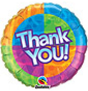 Thank You! Patterns Balloon Gift