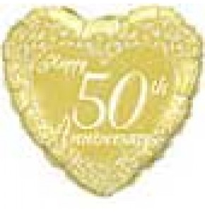 50th Happy Anniversary Balloon