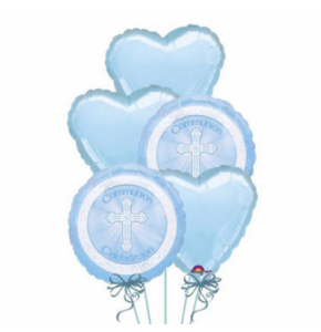 Boys Communion Balloon Bouquet (5)