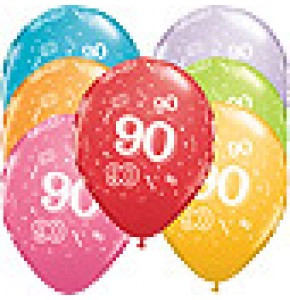 90th A-Round Birthday Balloons