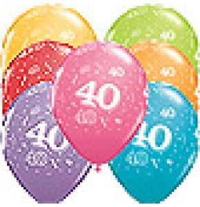 40th A-Round Birthday Balloons