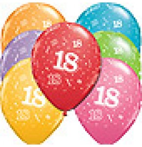 18th A-Round Birthday Balloons