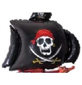 SUPER SHAPE LOOSE PIRATE SHIP BLACK