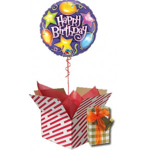 Birthday Balloon Gift Pack by Post - Stars and Balloons