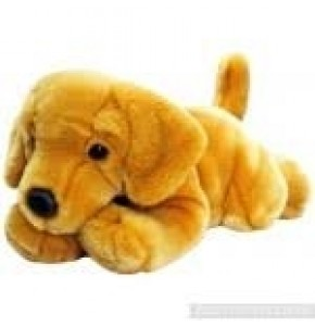 "Golden Labrador Puppy Cuddly Toy (Approx 12"")"