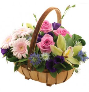 Pretty Floral Basket