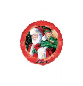 Traditional Santa 18 Foil Balloon