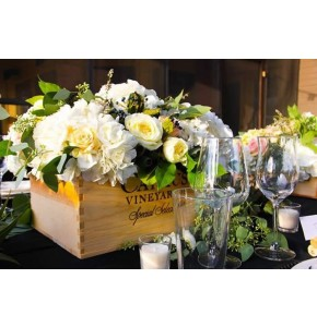 White Flower Crate